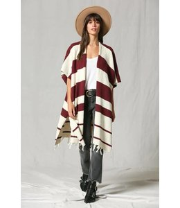 By Together Stripe Shawl Cardigan