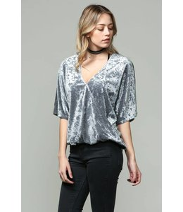 By Together Cross Over Velvet Top