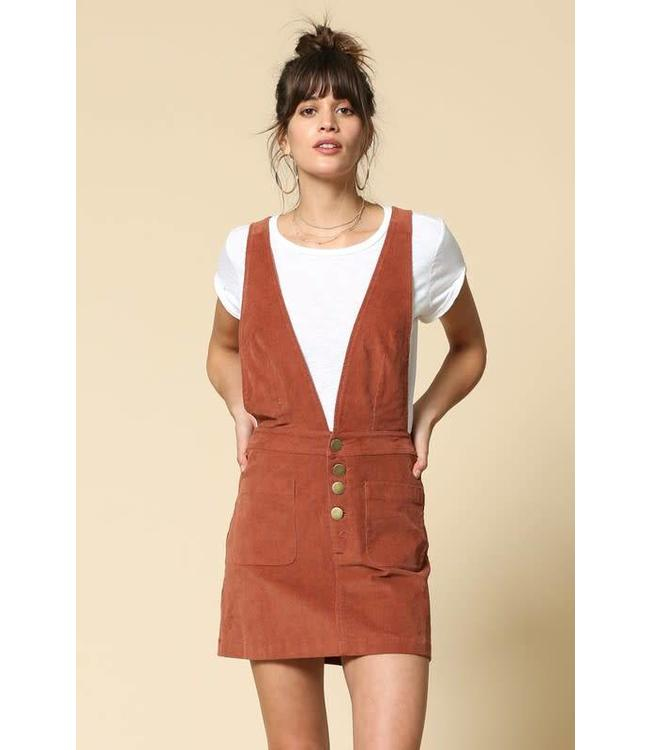 By Together V Neck Overall Dress
