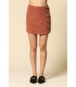 By Together High Waisted Corduroy Skirt
