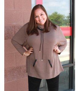 Full Figured Fashionista Cowl Neck Sweatshirt