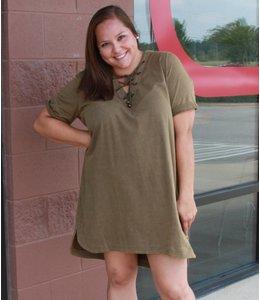 LoveRiche Garment Wash Dress