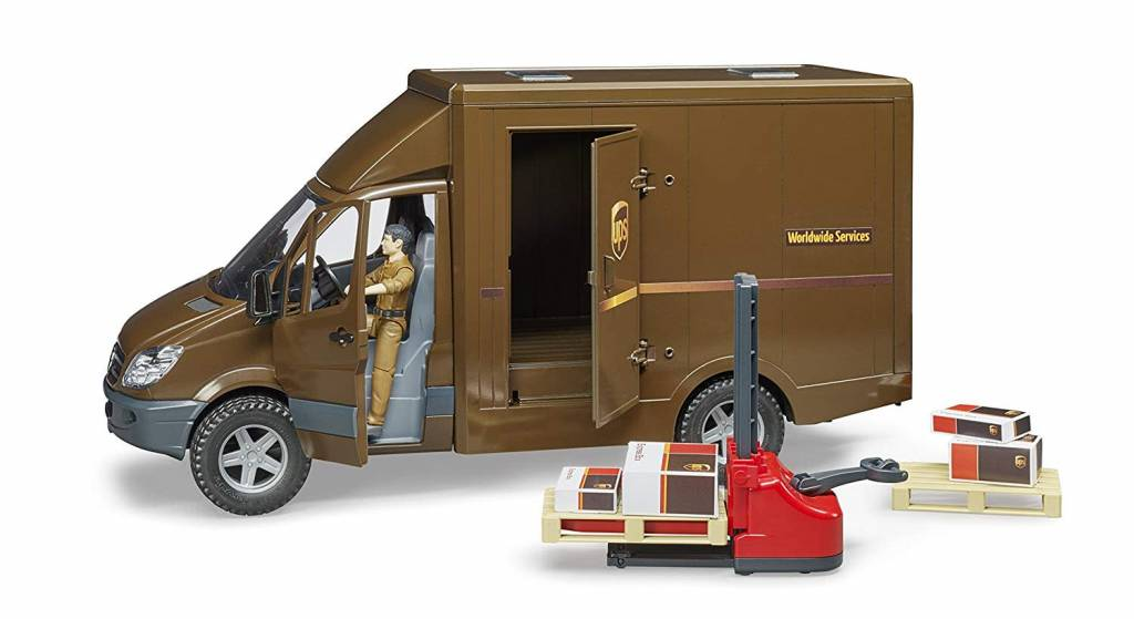 UPS Sprinter, Driver & Accessories by Bruder