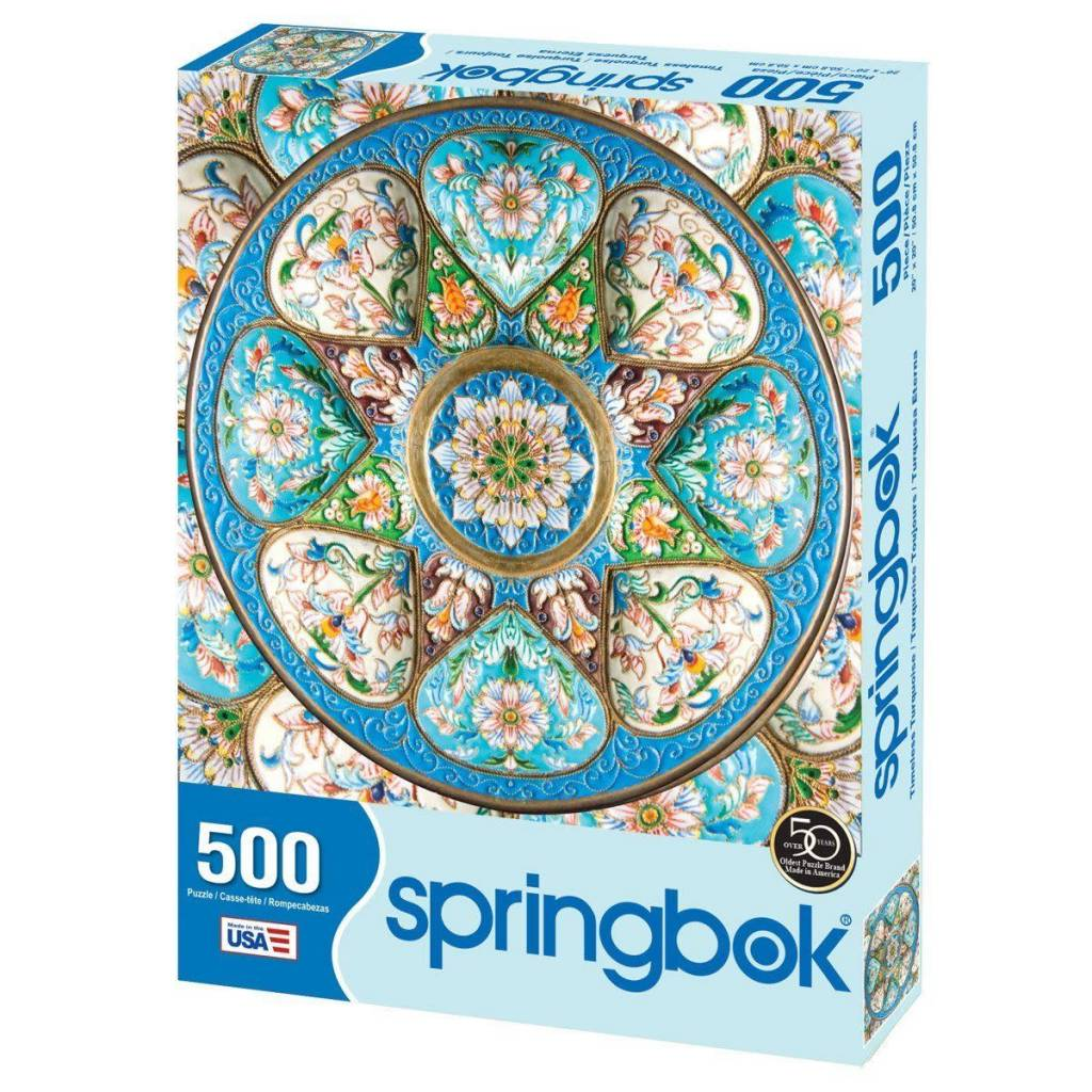 Timeless Turquoise 500-pc Puzzle by Springbok