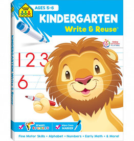 Kindergarten Write & Reuse Workbook by School Zone