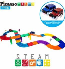 Picasso Tiles Race Track 30-pc Set