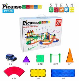 Picasso Tiles Race Track 80-pc Set