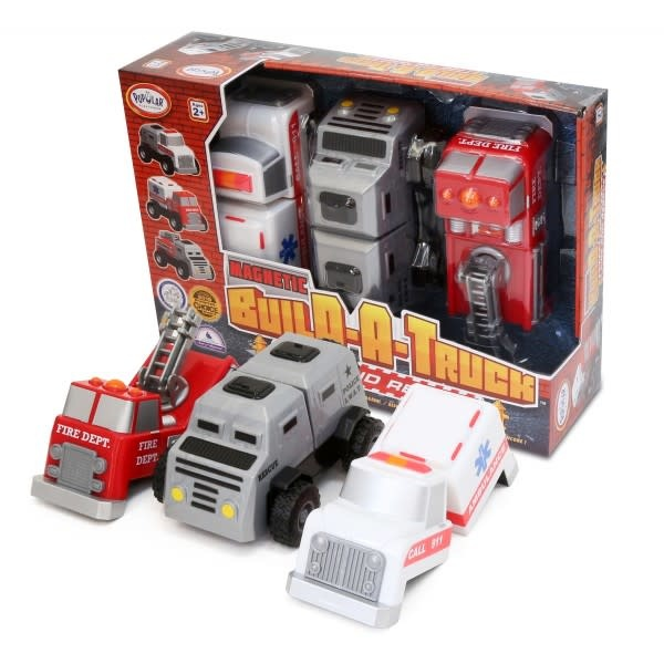 Magnetic Build-A-Truck Rescue Set by Popular Playthings