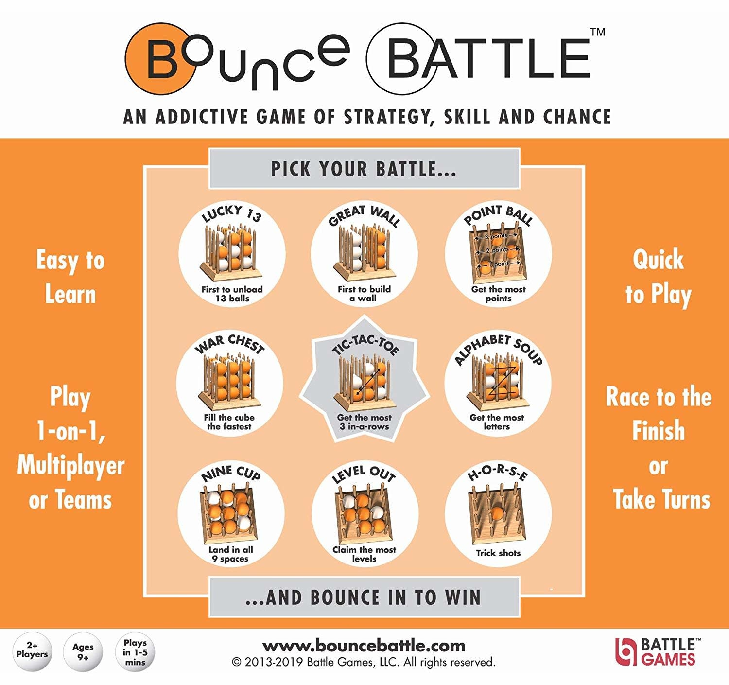Bounce Battle Wood Edition by Battle Games