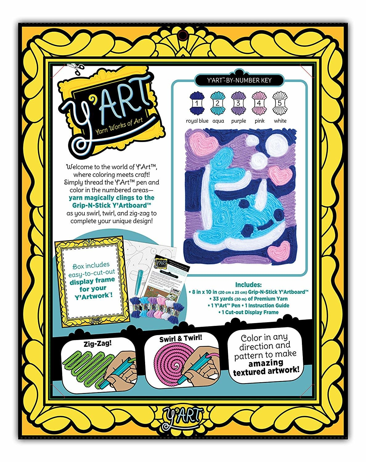 Y'Art Narwhal Craft Kit by Kahootz