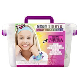 Fashion Angels Neon Tie Dye Scrunchies & Headband Keeper Crate by Fashion Angels