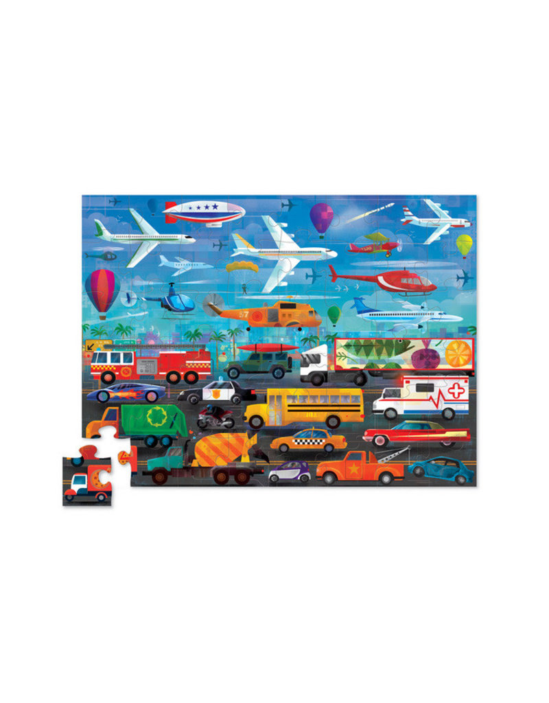 Above & BelowThings That Go 48-pc Puzzle by Crocodile Creek