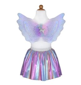 Magical Unicorn Pastel Skirt & Wings Set by Great Pretenders