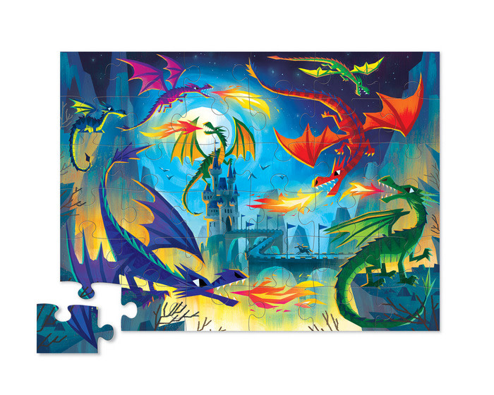Land of Dragons 36-pc Puzzle by Crocodile Creek