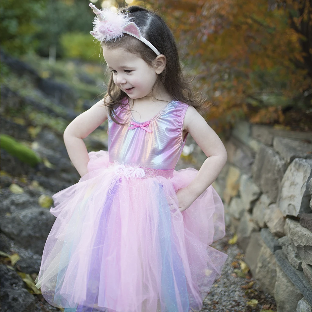 Pink Unicorn Tutu & Headband Set (4/7) by Great Pretenders
