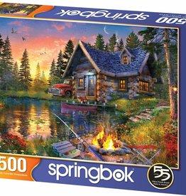 Sun Kissed Cabin 500-pc Puzzle by Springbok