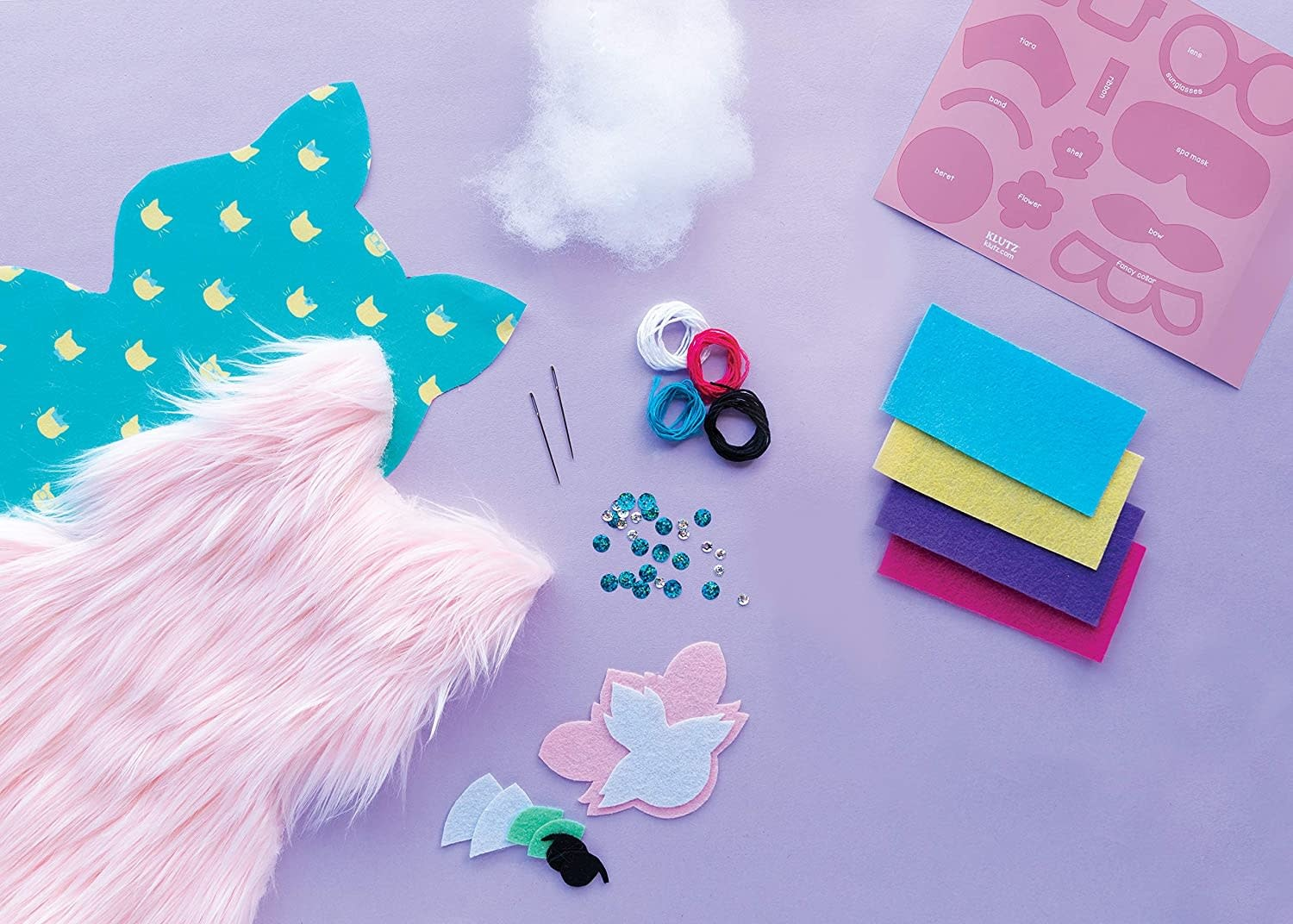 Sew Your Own Fluffy Cat Pillow by Klutz
