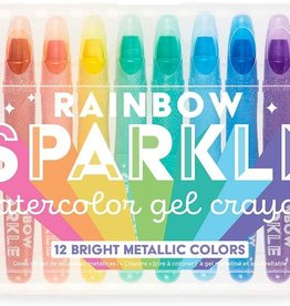 Rainbow Sparkle Watercolor Gel Crayons by Ooly