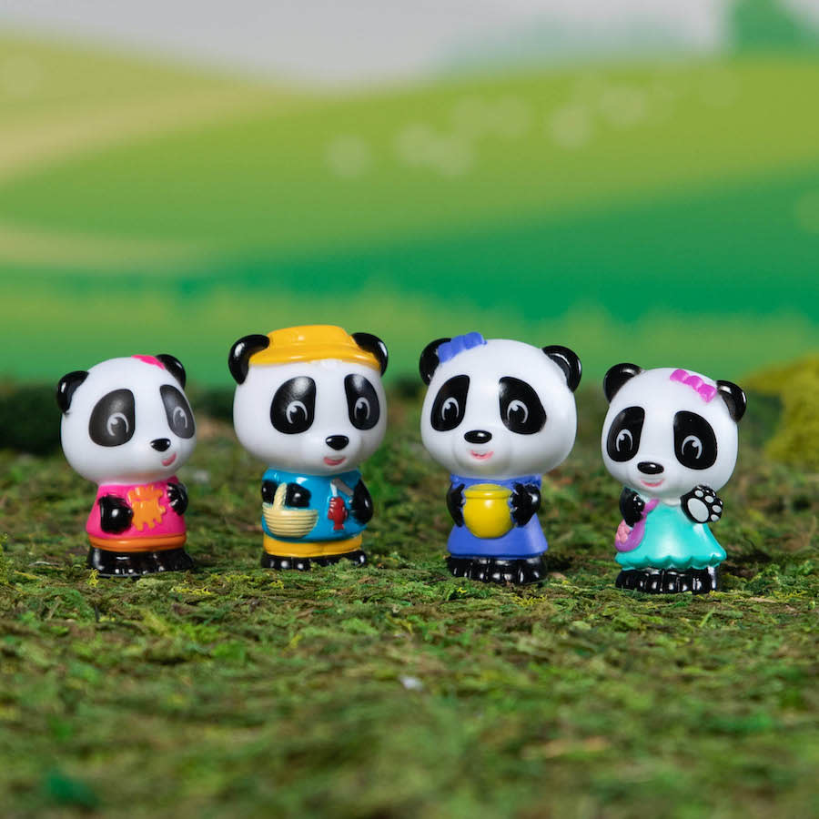 Timber Tots Panda Family of 4 by Fat Brain Toys