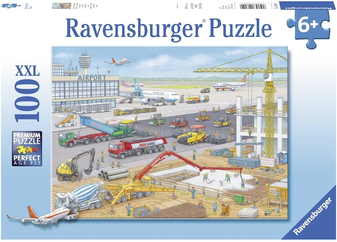 Construction at the Airport 100-pc Puzzle by Ravensburger