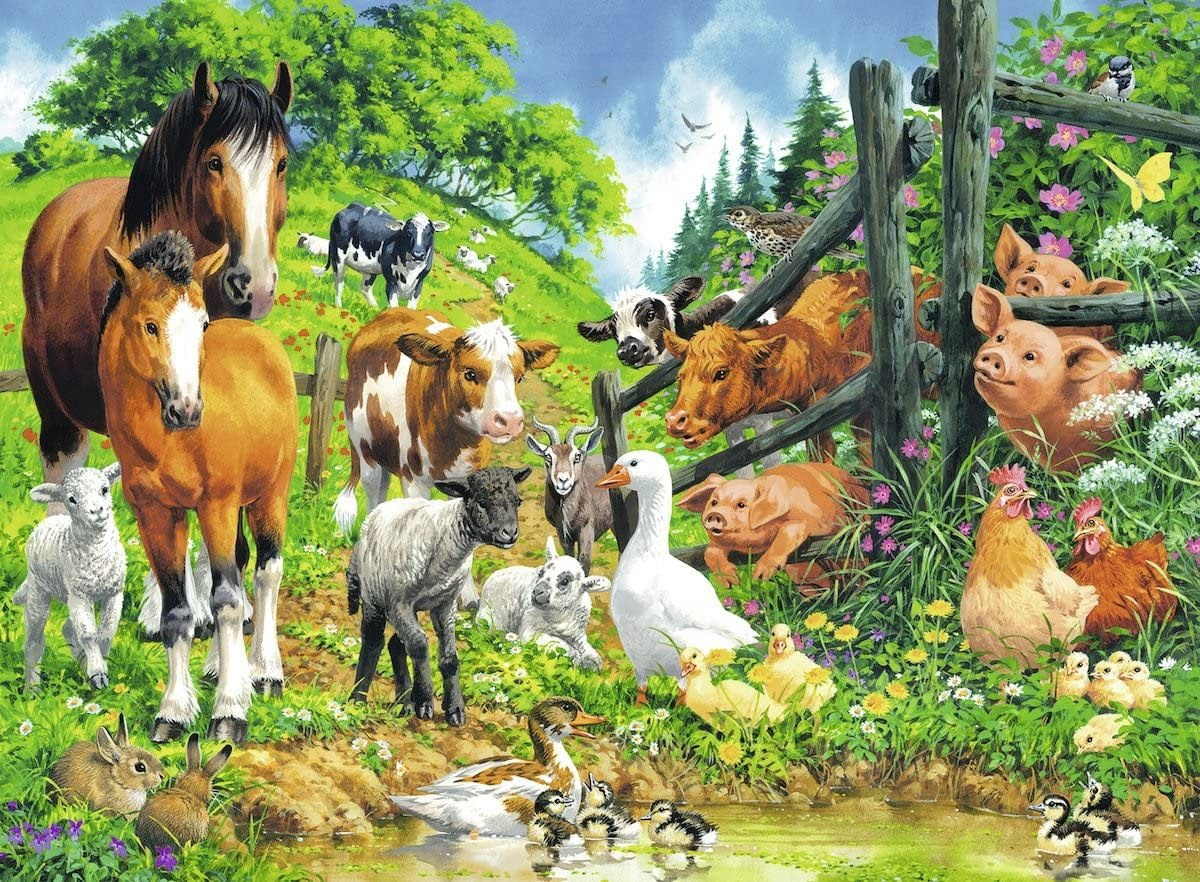 Animals Get Together 100-pc Puzzle by Ravensburger