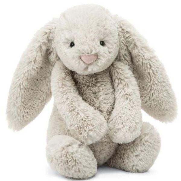 "Bashful Oatmeal Bunny Medium 12"" bv Jellycat"