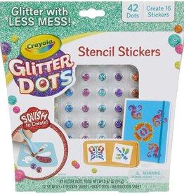 Glitter Dots Sticker Stencils by Crayola