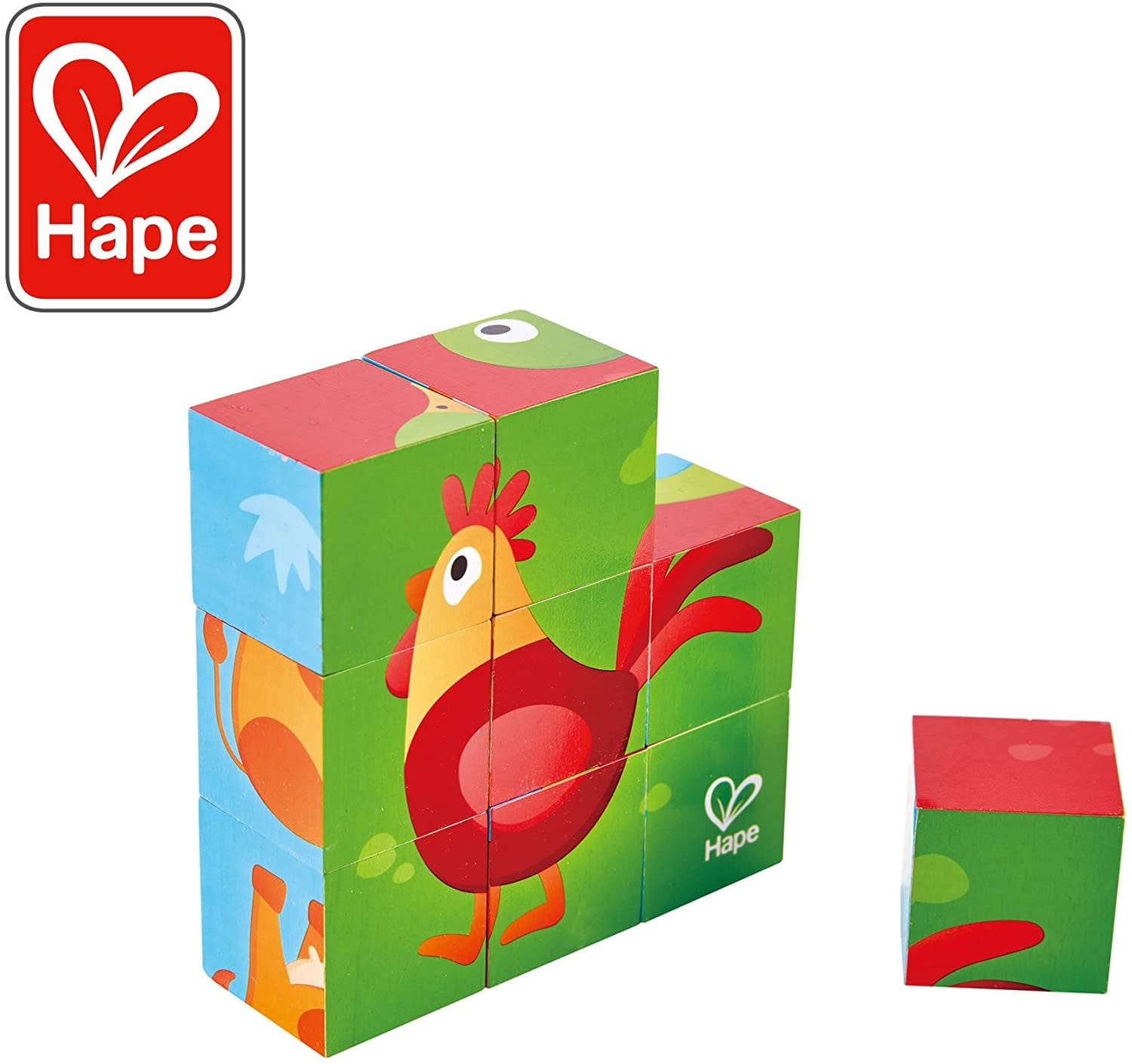 Farm Animal Block Puzzle by Hape