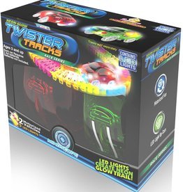 Twister Tracks 2-Race Car Neon Glow Set by Mindscope