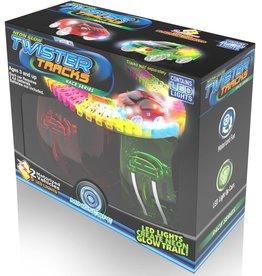 Mindscope Twister Tracks 2-Race Car Neon Glow Set by Mindscope