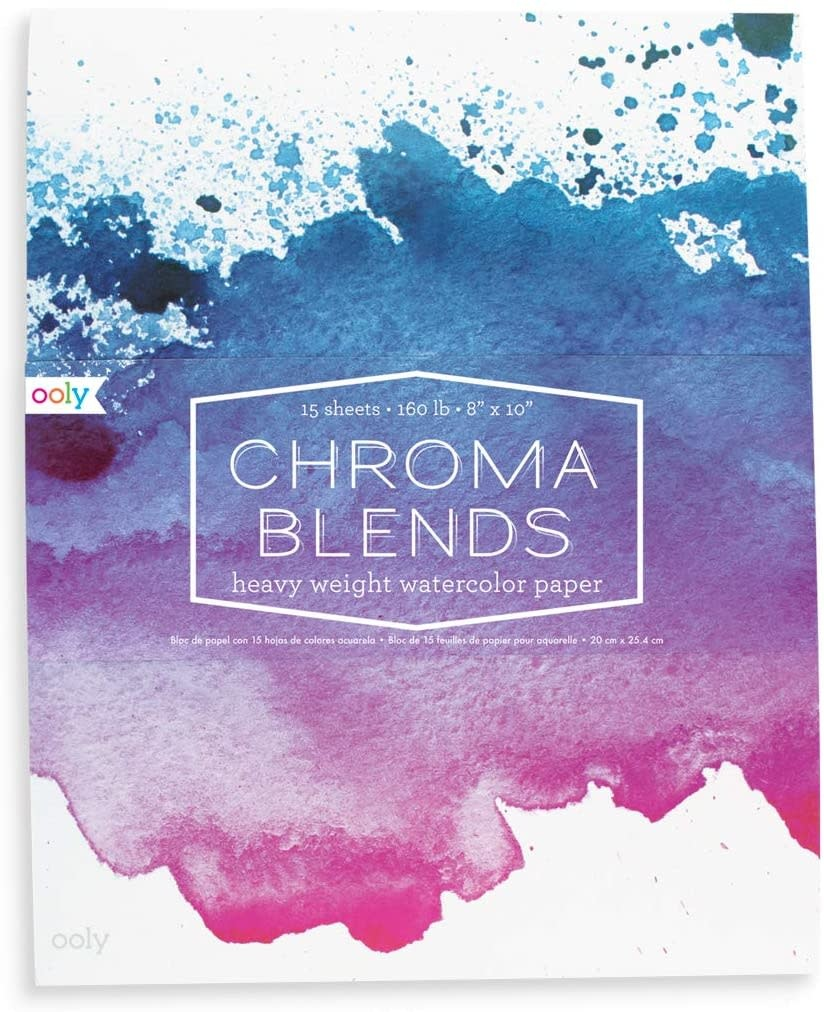 Chroma Blends Watercolor Pad by Ooly