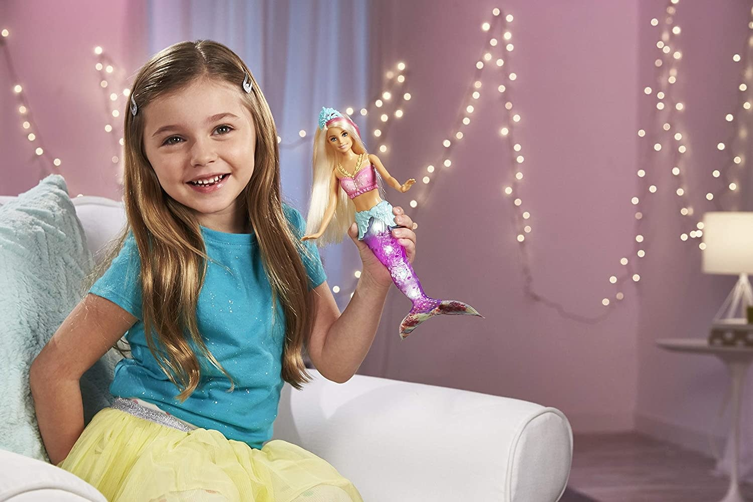 Barbie Sparkle Lights Mermaid Doll by Mattel