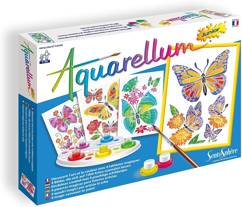 Aquarellum Jr Butterflies & Flowers Paint Set by Sentosphere