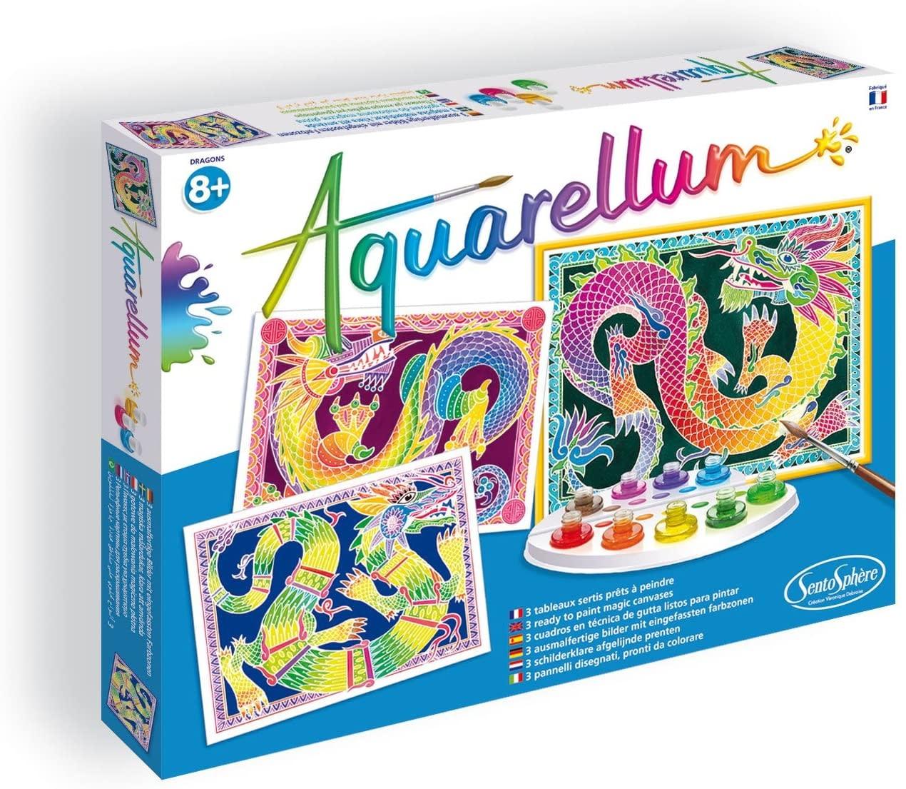 Aquarellum Dragons Large Painting Set by Sentosphere