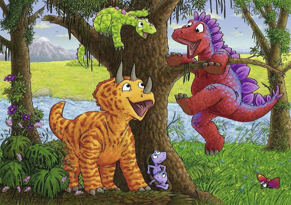 Dinosaurs at Play 2 24-pc Puzzles