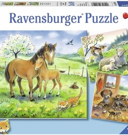 Cuddle Time 3  49-pc Puzzles by Ravensburger