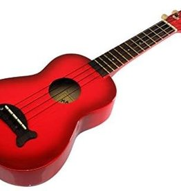 Makala Dolphin Red Burst Soprano Ukulele by Kala Music