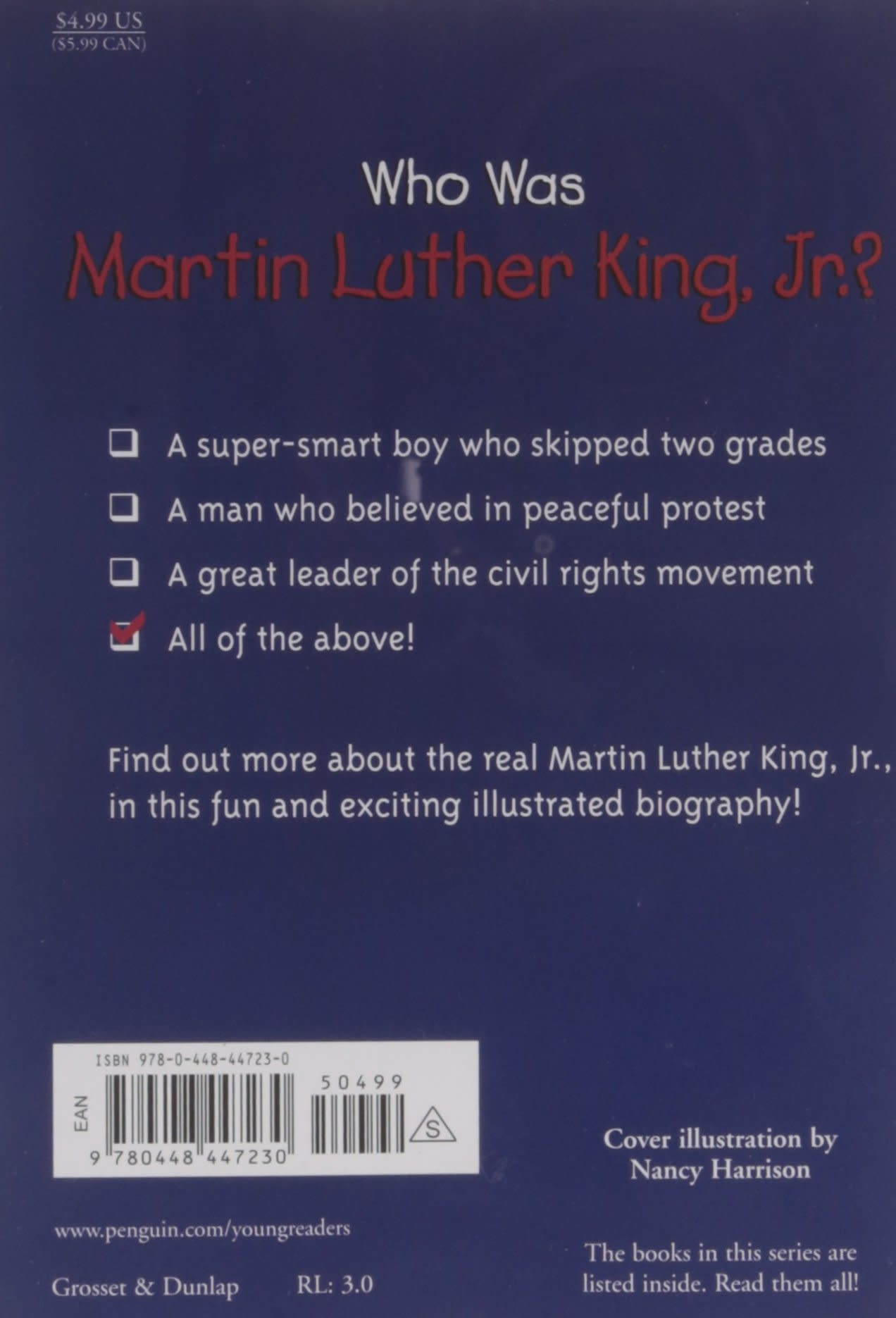 Who Was Martin Luther King, Jr.? Paperback Book