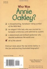 Who What Where Who Was Annie Oakley? Paperback Book