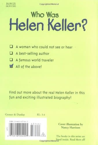 Who Was Helen Keller? Paperback Book