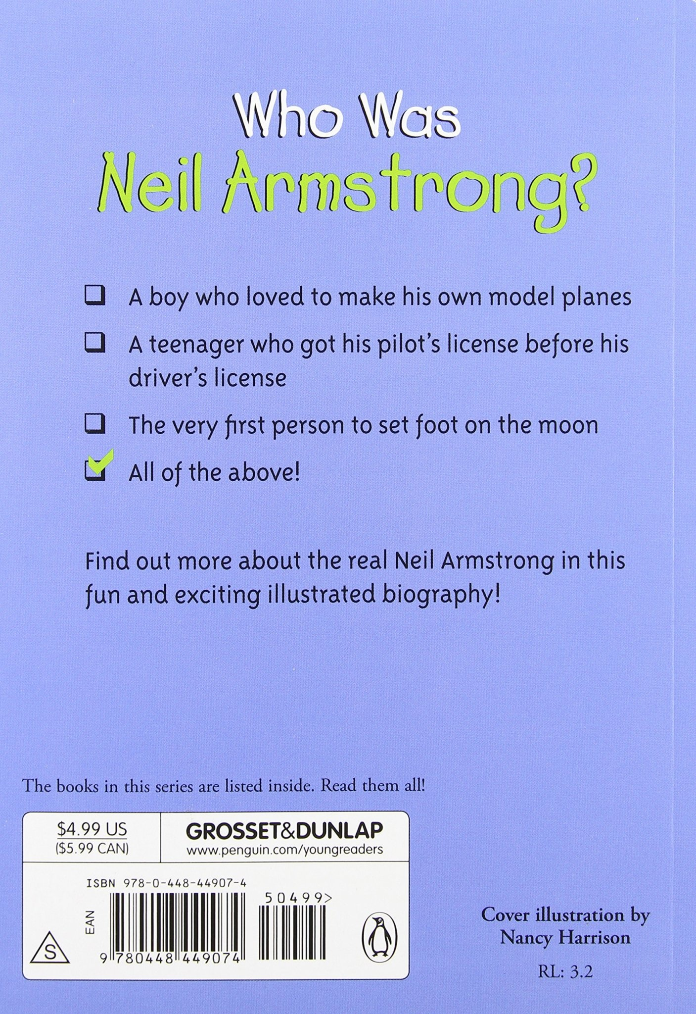Who Was Neil Armstrong? Paperback Book