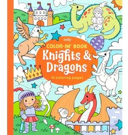 Knights & Dragons Coloring Book by Ooly