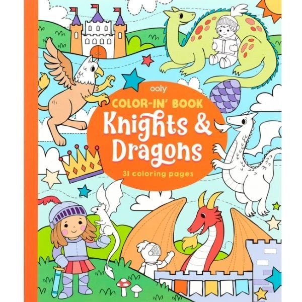 Knights Dragons Coloring Book By Ooly Fundamentally Toys