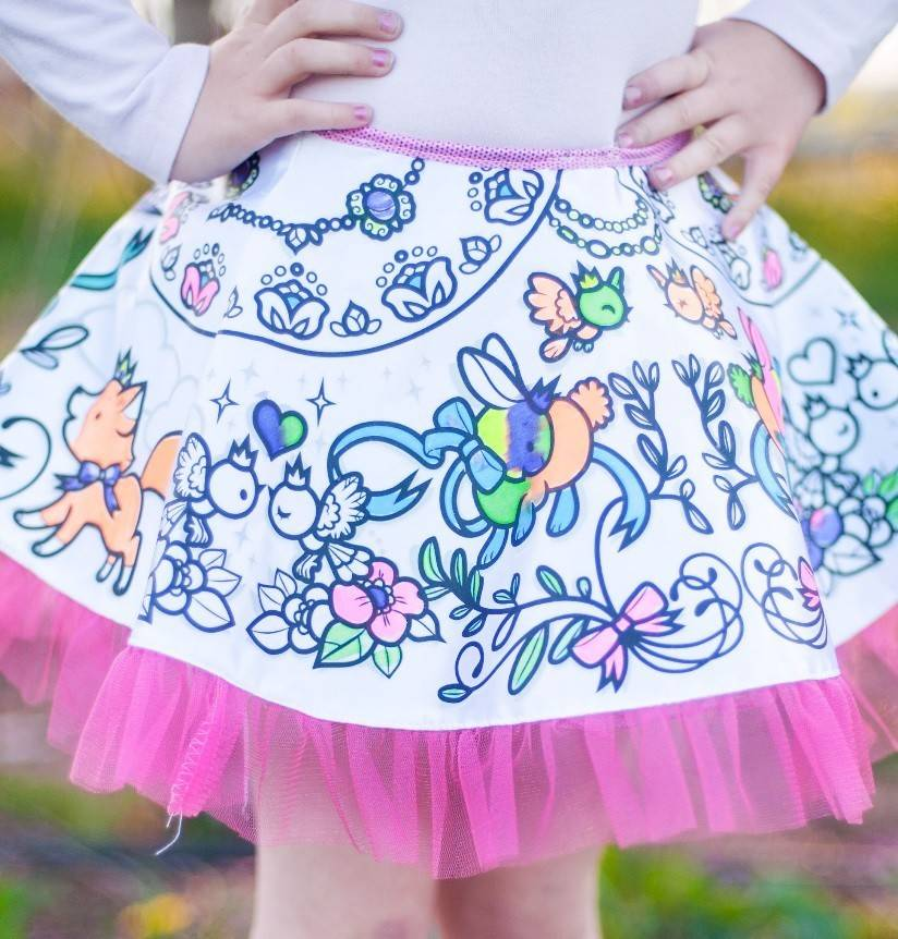 Color-A-Skirt by Great Pretenders