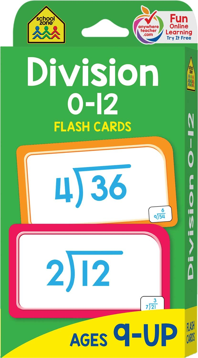 Flash Cards: Division by School Zone Publishing
