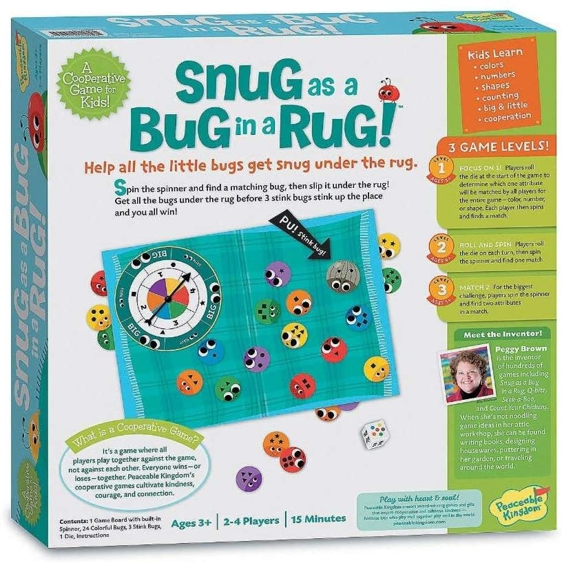 Snug as a Bug in a Rug Game by Peaceable Kingdom