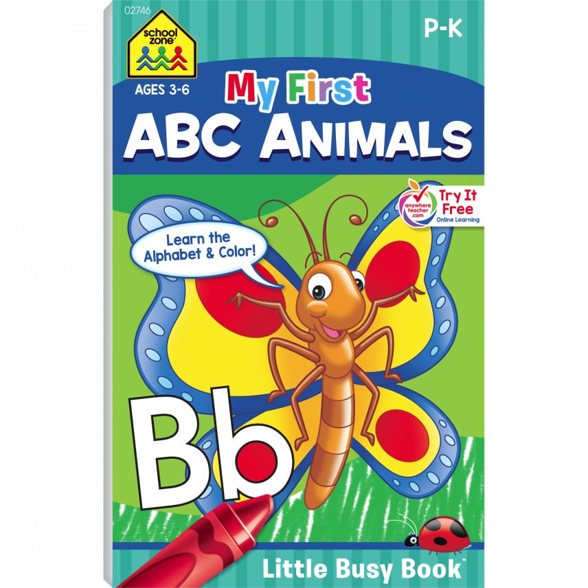 My First ABC Animals Busy Book by School Zone