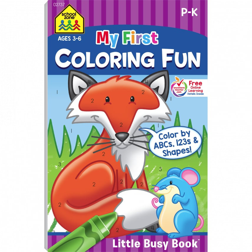 My First Coloring Fun Busy Book by School Zone
