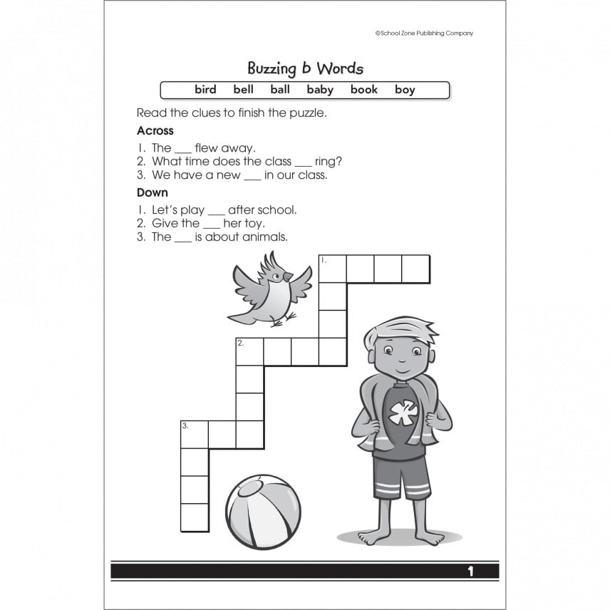 My First Crosswords Busy Book by School Zone