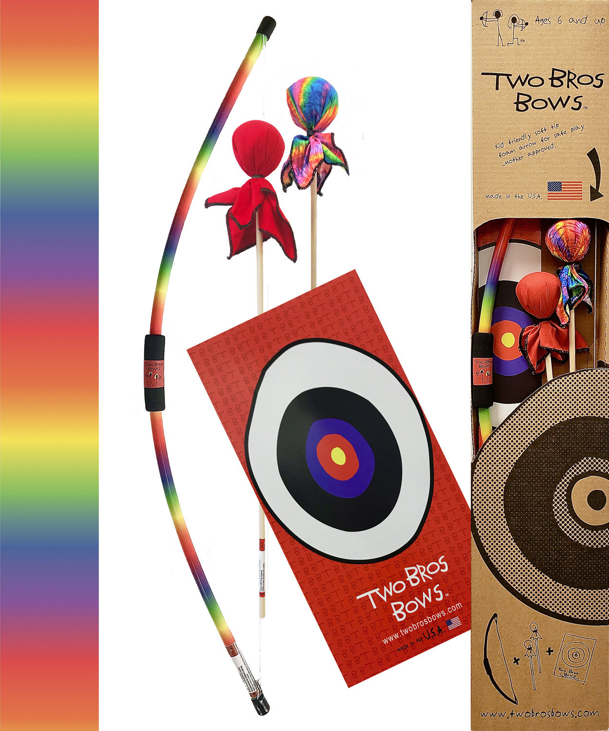 Two Bros Bows Two Bros Bows Boxed Archery Set - Rainbow